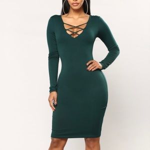 Majorie Criss Cross Dress Fashion Nova Medium